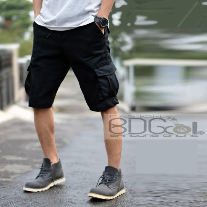 harga Celana cargo pendek hitam pdl pria kargo celana gunung hijau army dc Tokopedia.com