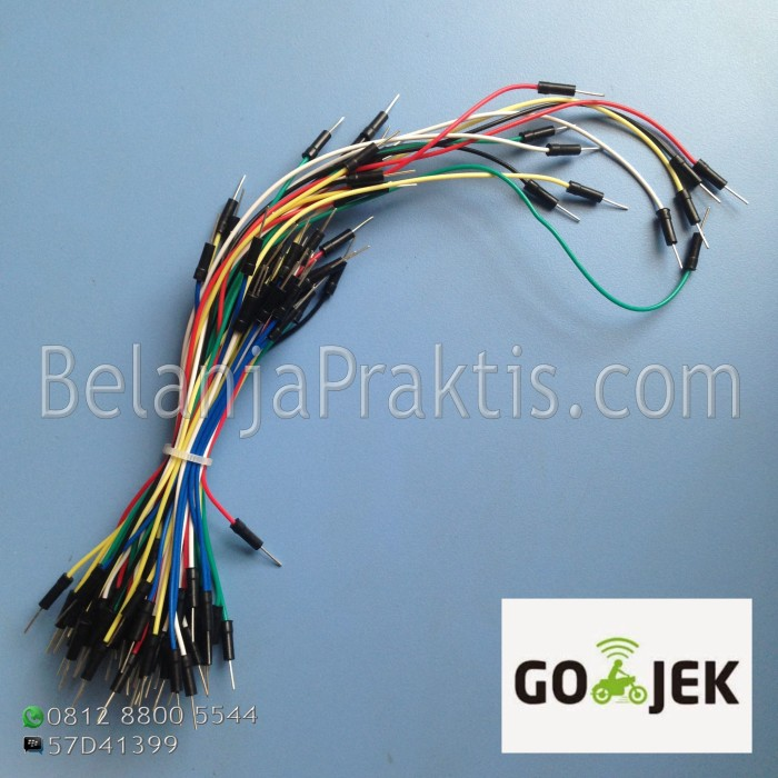 harga Male to male jumper cable 65pcs / kabel breadboard Tokopedia.com