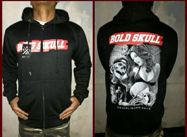 harga Jaket hardcore bold skull (hitamnavy) Tokopedia.com