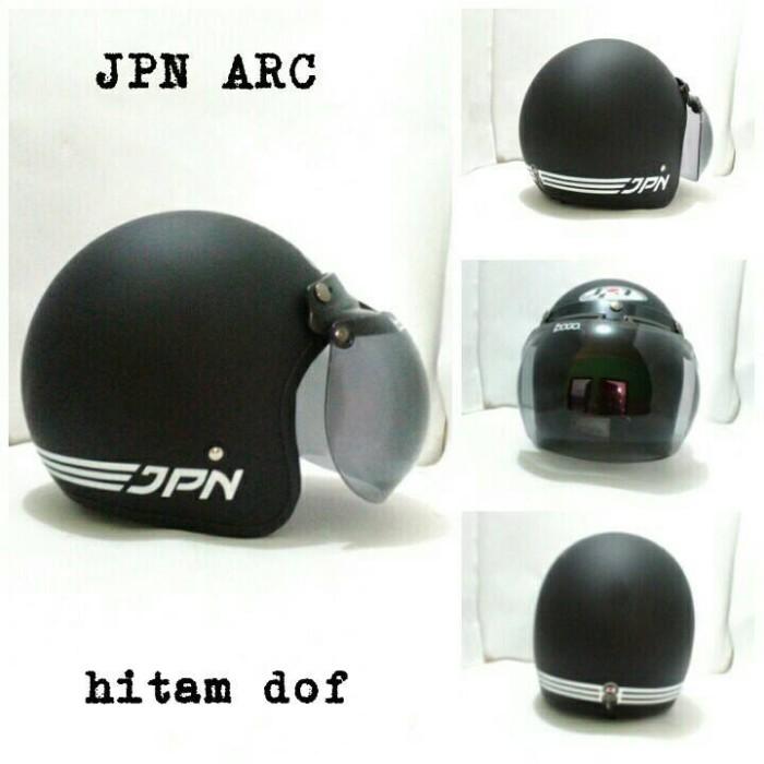 fa1506f8 Jual Helm Bogo Retro Klasik JPN ARC Hitam SNI + Kaca Bogo Ori - Kota ...