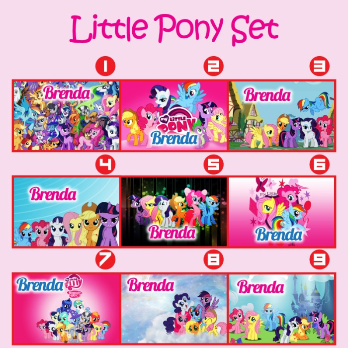 harga Custom name bag tags my little pony (gantungan tas my little pony) Tokopedia.com