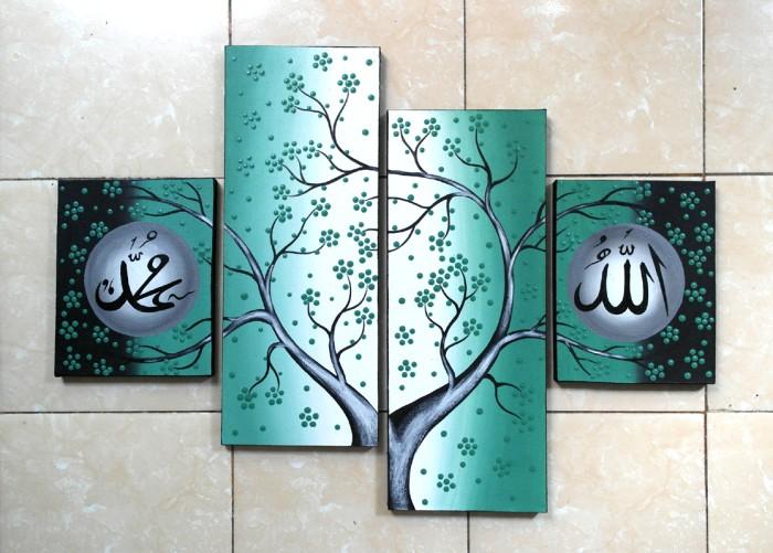 harga Lukisan kaligrafi dot hijau Tokopedia.com