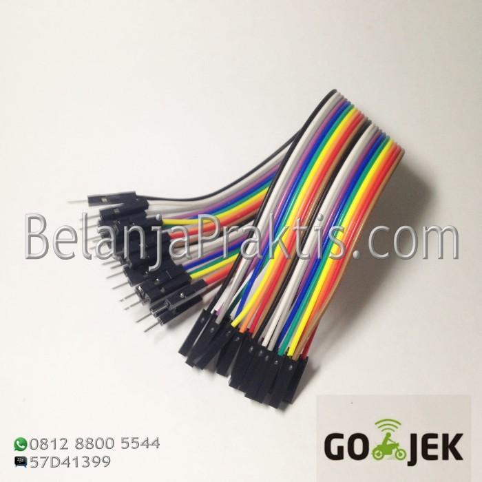 Foto Produk Male to Female dupont cable jumper / Kabel Breadboard 20 cm - 20pcs dari BelanjaPraktis