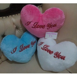 Bantal LED I love u pink
