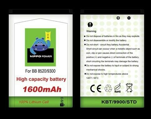 harga Batre baterai hippo blackberry gemini curve 8520 9300 cs2 1600mah ori Tokopedia.com