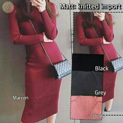 harga Dress olla knitted Tokopedia.com