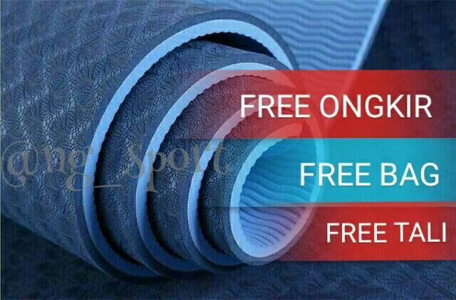 harga Matras yoga tpe free bag free tali /matras yoga /yogamat Tokopedia.com