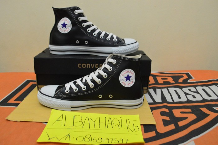 864a004a7c02 Jual Converse CT All-star Black White Leather HI (Japan Market ...