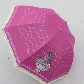 Payung lipat 3  renda renda unik (free bubble wrap)