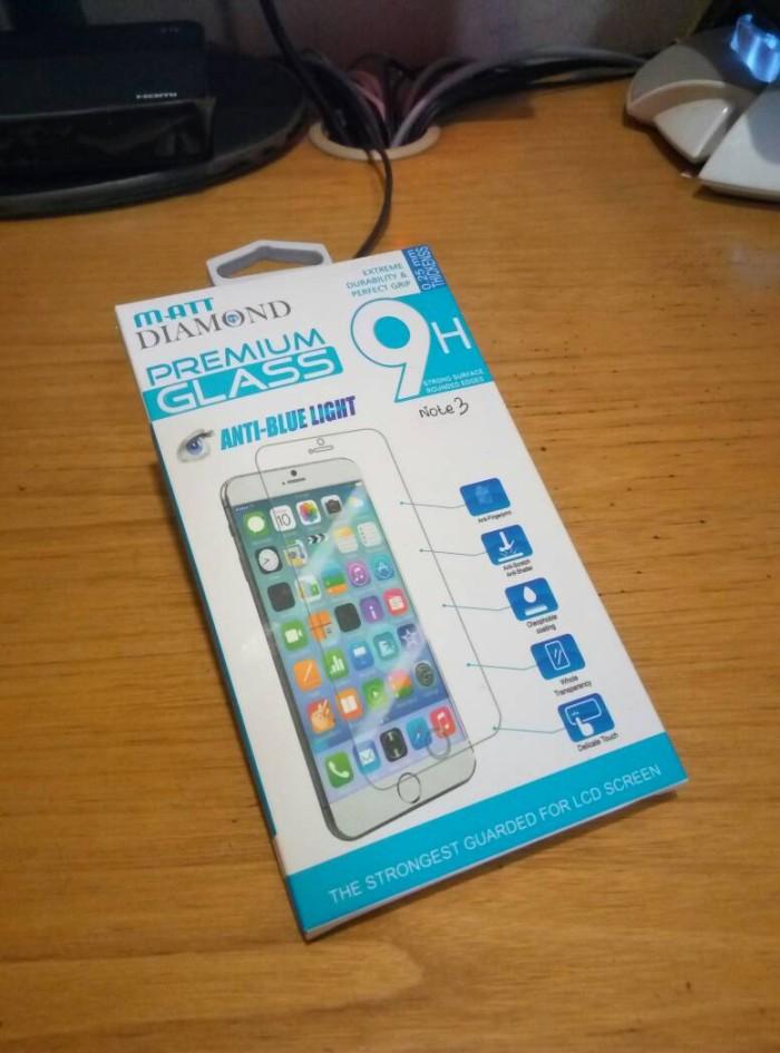 harga Samsung note 3 matt diamond premium tempered glass bluelight filter Tokopedia.com