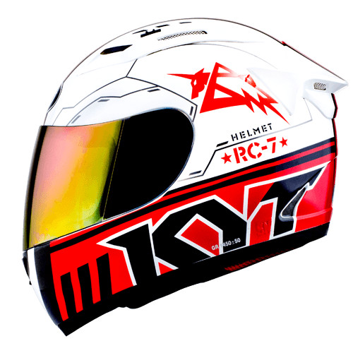 harga Helm kyt rc 7 rc seven rc7 fullface full white black red Tokopedia.com