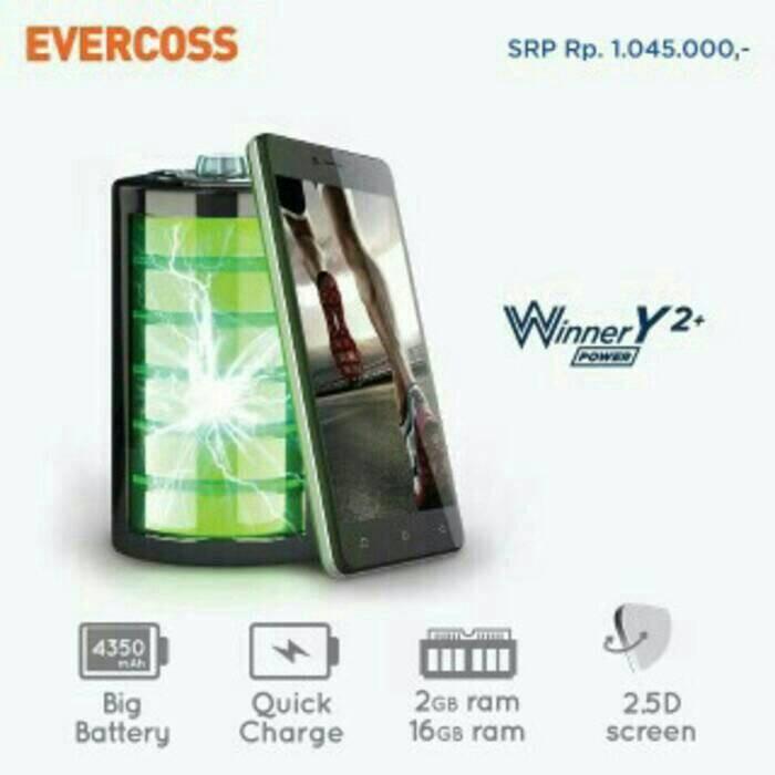 harga Evercoss r50a winner y2+ 5 /ram 2gb/16gb/marshmallow/big battery Tokopedia.com
