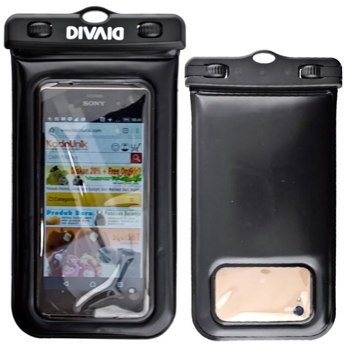 harga Hamee original divaid floating case - black [sarung hp anti air] Tokopedia.com