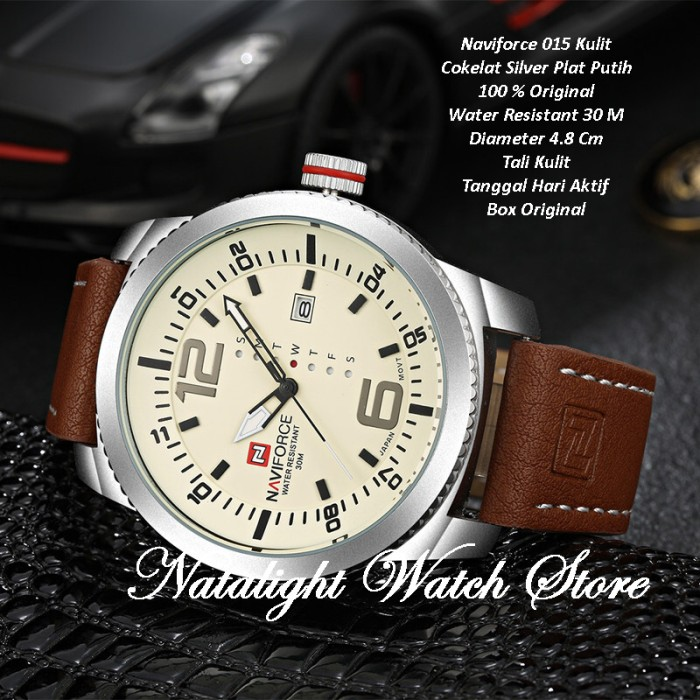 harga Jam tangan pria sport elegan mewah naviforce 015 kulit cr7 original Tokopedia.com