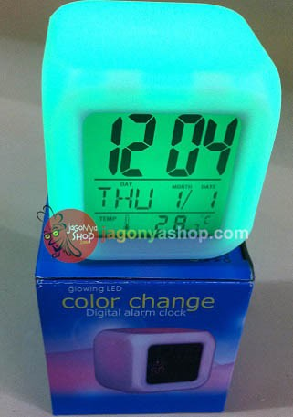 Led Clock Cube Jam Kubus 7 Warna Gratis Battery 4 Pcs - Daftar Harga ... 42dfec5a70