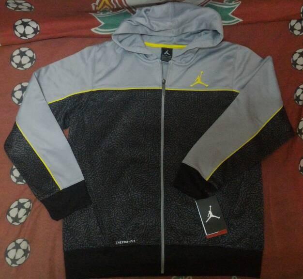 1ee99869abdca3 Jual Jaket Hoodie Sweater Nike Air Jordan Grey Elephant Tribal ...
