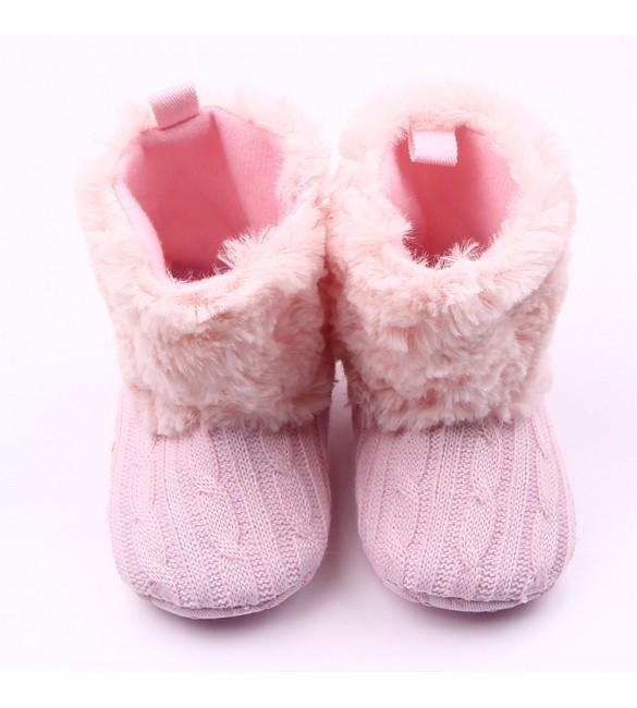 harga Sepatu anak bayi baby prewalker fur boots pink Tokopedia.com