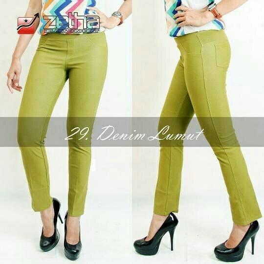 Celana Legging Zetha Denim Lumut Size 4XL Surabaya