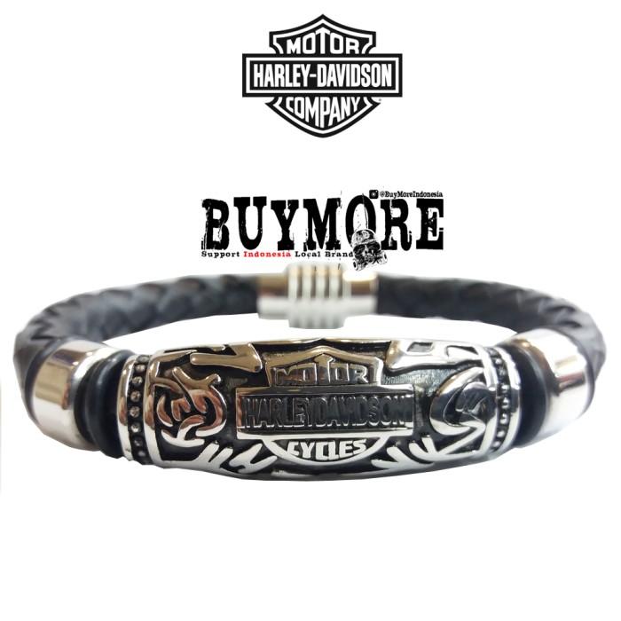harga Aksesoris harley davidson bracelet gelang kulit pria gelang motor hd Tokopedia.com