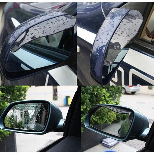 PVC Pelindung Spion Kaca Mobil Variasi Anti Hujan - Black