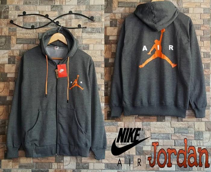 6a6822c79e2fc4 Jual Jaket Nike Air Jordan Hoodie Abu-Abu Grey - Kota Bandung ...