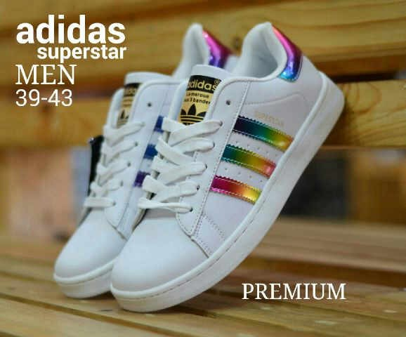 adidas superstar rainbow holographic