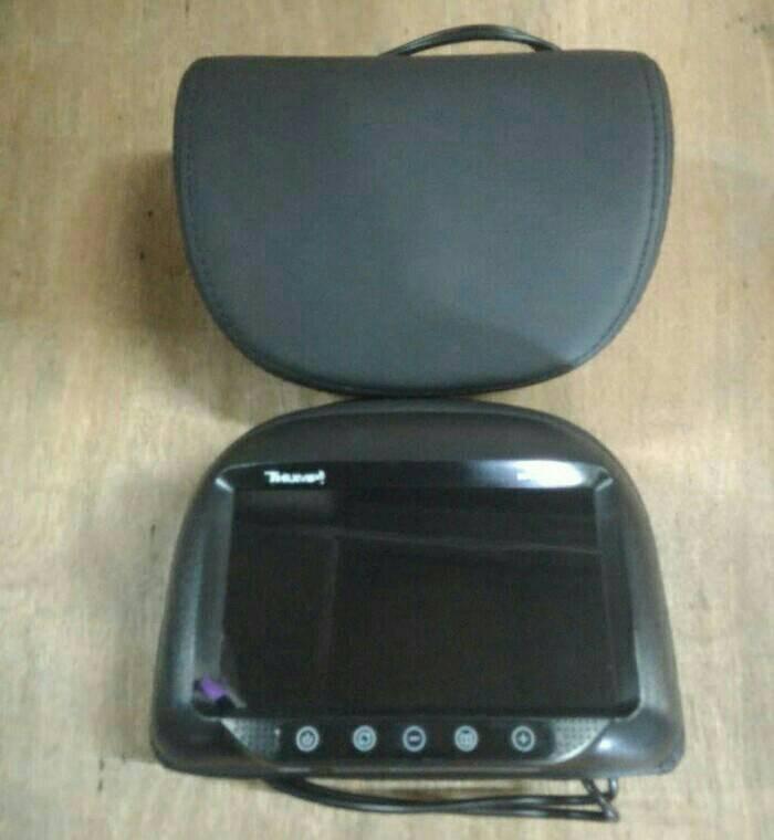 harga Headrest monitor/tv jok mobil model bulat hitam Tokopedia.com