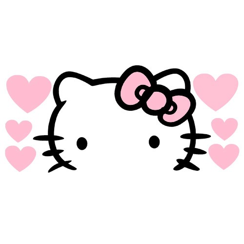 Sticker kepala hello kitty love