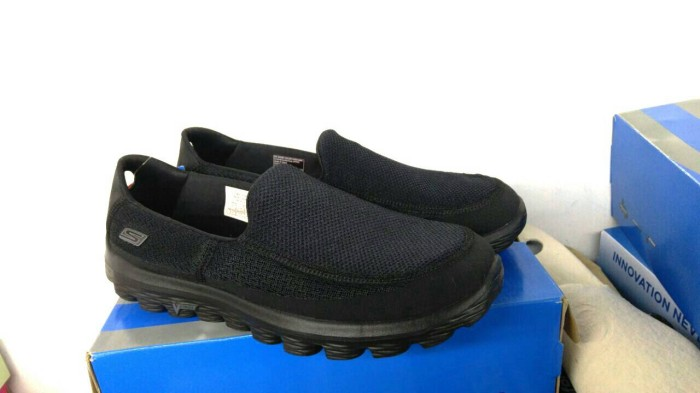 Jual ORIGINAL Sepatu Skechers Go Walk 2 Full Black   Hitam Art ... 954c2b617b