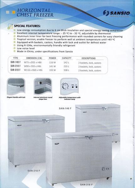 harga Chest freezer sansio san-213f 200liter Tokopedia.com