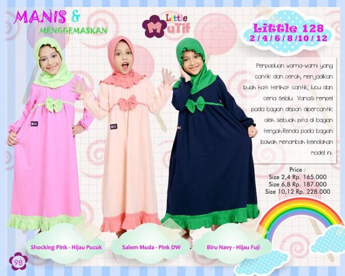 Jual Baju Muslimah Anak Gamis Bahan Kaos Murah Terbaru Mutif Model