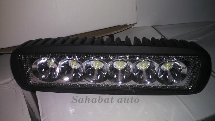 harga Led bar lampu sorot led tembak offroad 18 watt drl waterproof mobi Tokopedia.com
