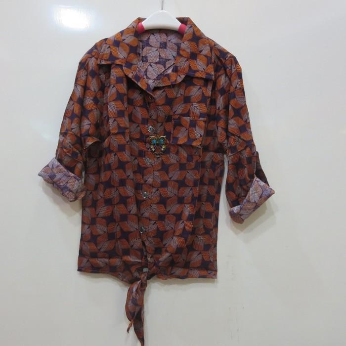 baju pria. Source · Blouse pakaian wanita kemeja motif ikat orange .