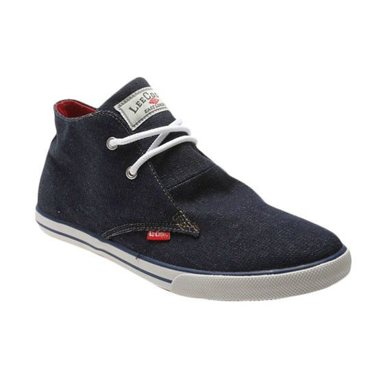 Sepatu casual sneaker Lee Cooper LCV navy putih mid original asli mura 16b9a670cd