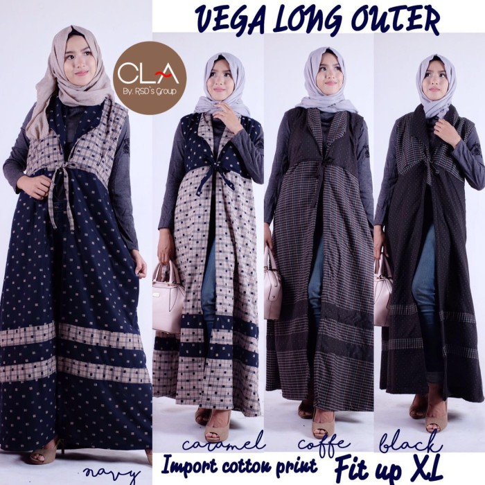 SUPLIER HIJAB : VEGA LONG OUTER BY CLA