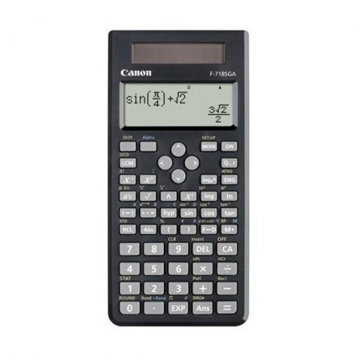 harga Canon Dot Matrix Scientific Calculator F 718sga - Hitam Tokopedia.com