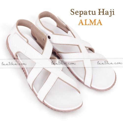 Jual Sepatu Sandal Karet Hajiumroh Wanita Putih Toko Alquran