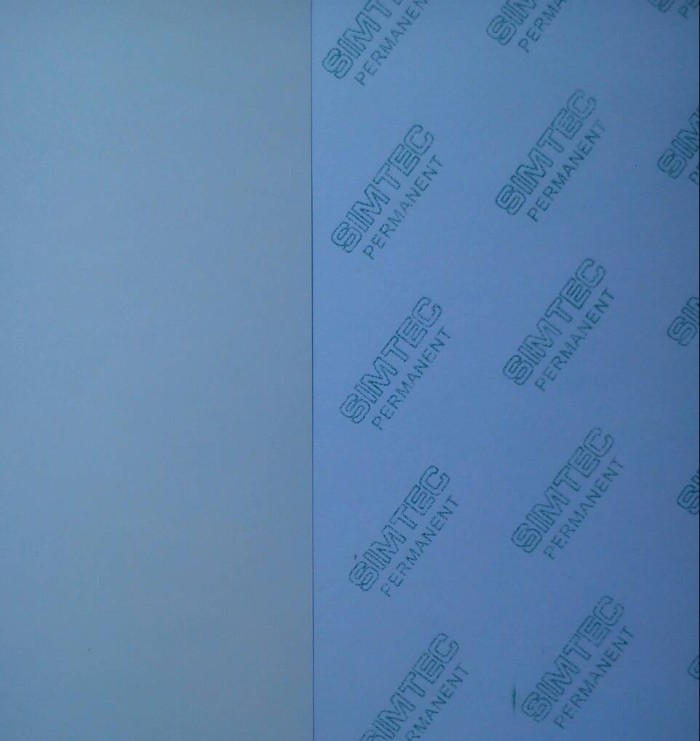 Jual Kertas Stiker Putih Plastik Vinyl Plano