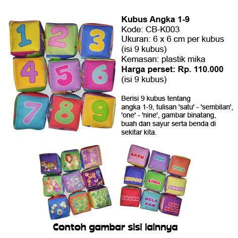 Foto Produk Mainan edukatif / edukasi anak bayi balita, Kubus Angka unik lucu kado dari Edukasi Toys