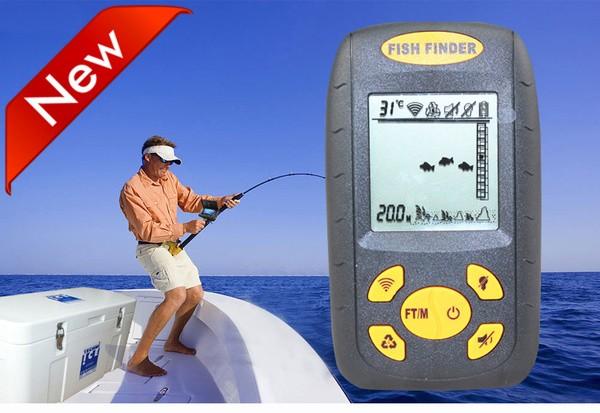 harga Hitam fishfinder pendeteksi ikan ultrasonic sonar fish finder portable Tokopedia.com