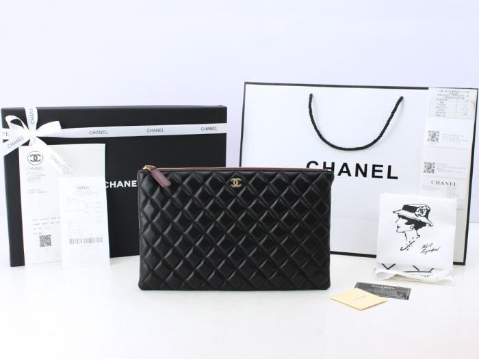 9f8e60126bf30f Jual Tas Wanita Import Clutch Pouch Chanel Medium Quilted Lamb Hitam ...