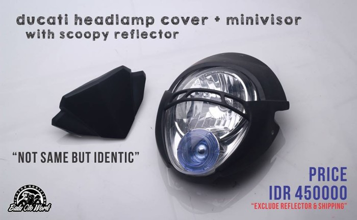 harga Cover headlamp model ducati monster pakai lampu scoopy Tokopedia.com