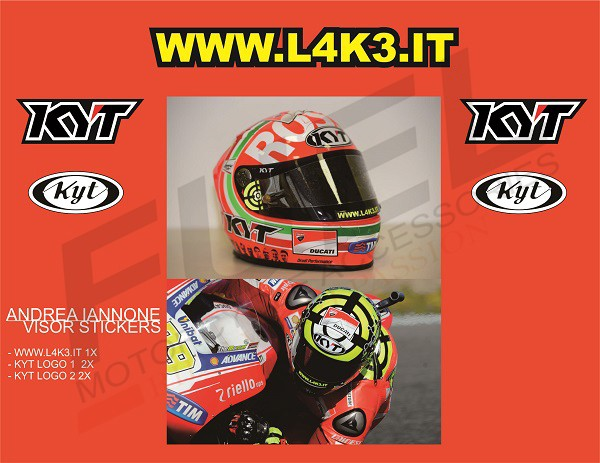 9d033c9b Jual Sticker/Stiker Visor Helm - 29 Andrea Iannone KYT - Kota ...