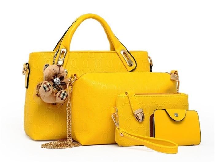 ... new baru original authentic asli murah sale bc2f7 b18ff  best price tas  hand bag handbag beli 1 dapat 4 import yellow kuning prada gucci 69374 5881feda4e