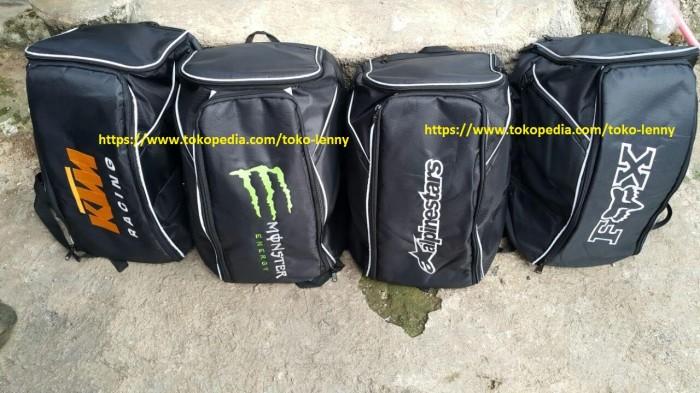 harga Tas ransel helm motif fox, ktm, alpinestar, monster energy,new edition Tokopedia.com