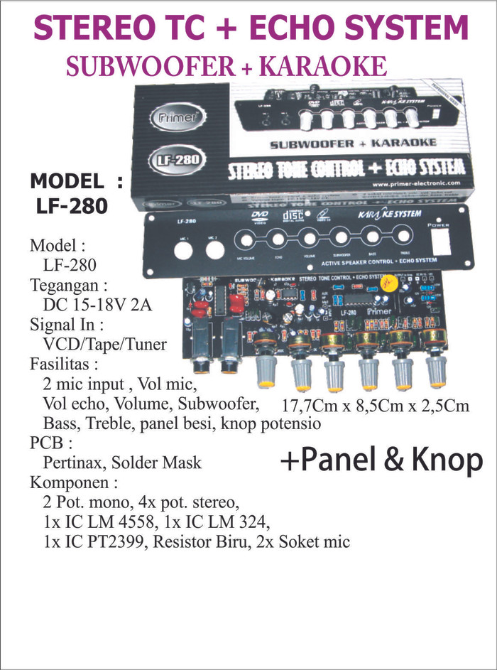 harga Kit stereo tc + echo system subwoofer +karaoke lf 280 Tokopedia.com