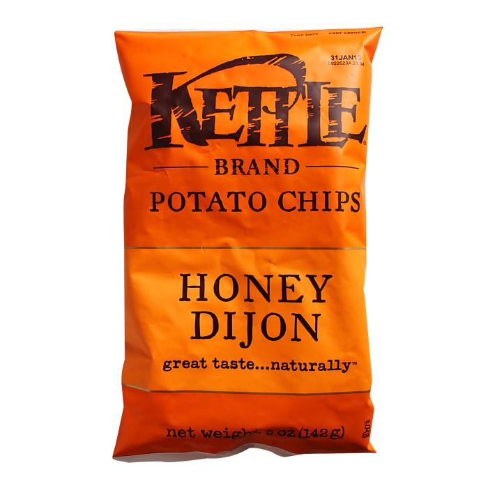 Kettle brand honey dijon potato chips - makanan snack chip import