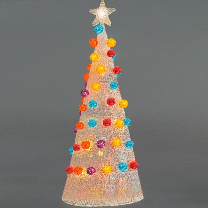 Pohon Natal Rotan Lampu Hias Cotton Bola Christmas 170cm