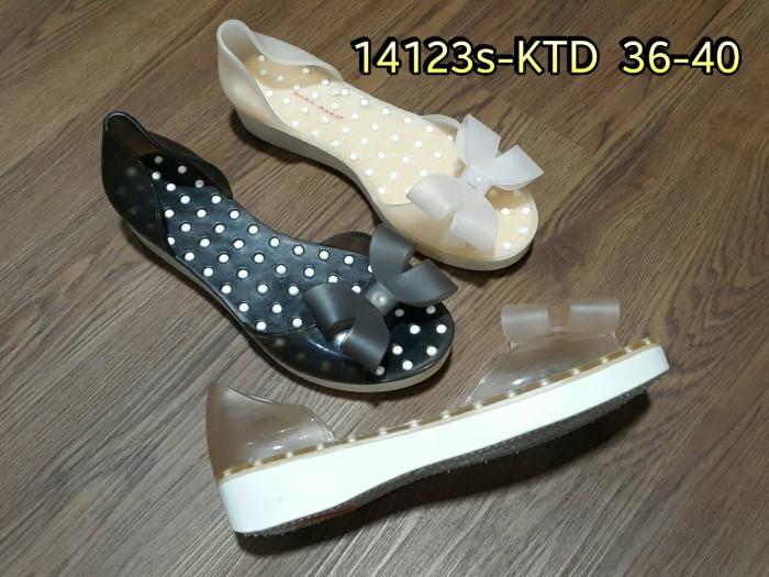 harga 14123s-ktd sendal sandal sepatu pita karet jelly cewek wedges Tokopedia.com