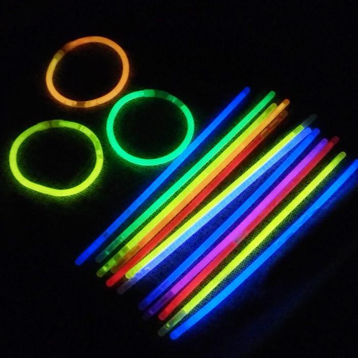 glow stick tongkat gelang fosfor glow in the dark isi 100 stick party